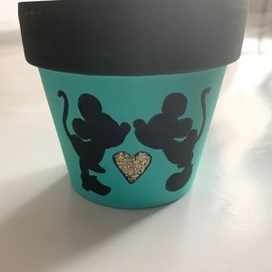 Other - Mickey Mouse Terra Cotta Flower Plant Pot